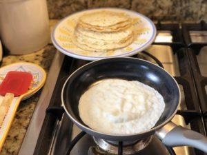 Cooking low carb tortillas