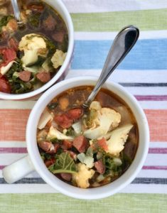 Sausage Kale and Cauliflower Soup