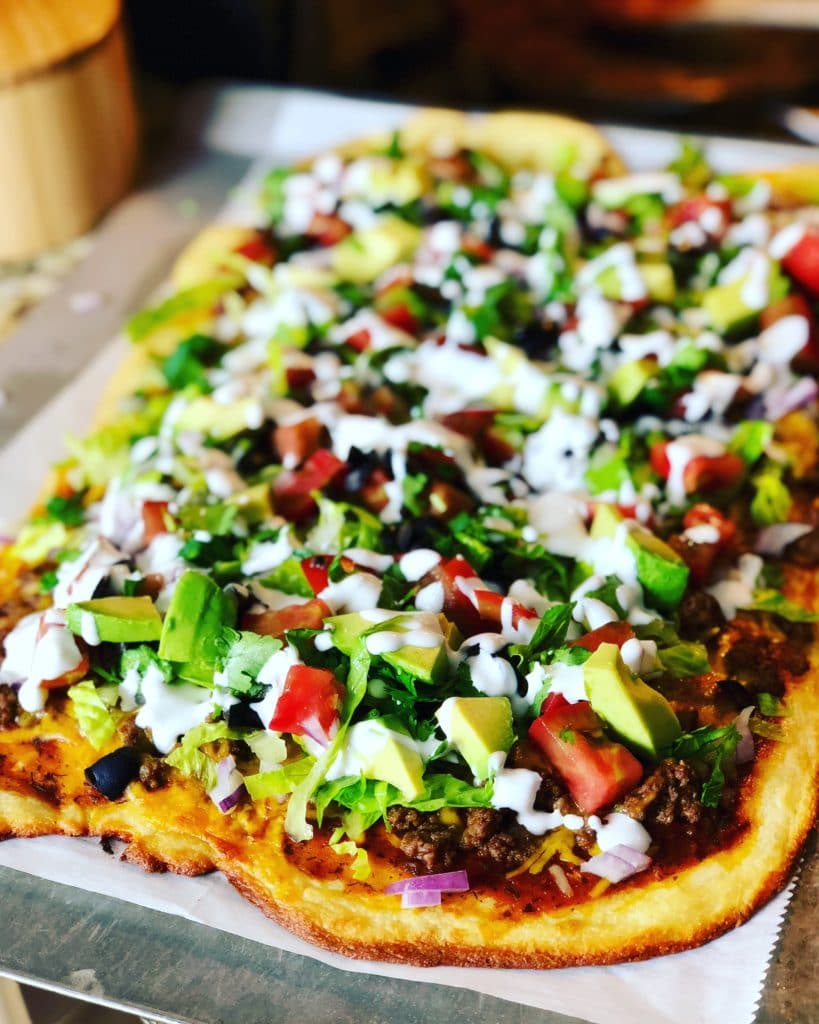Fathead Taco Pizza