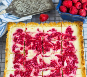 Raspberry Cheesecake Coconut Bars
