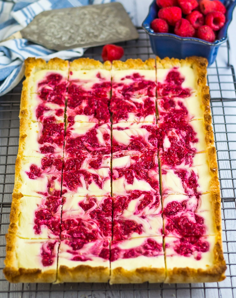 Low Carb Raspberry Cheesecake Coconut Bars