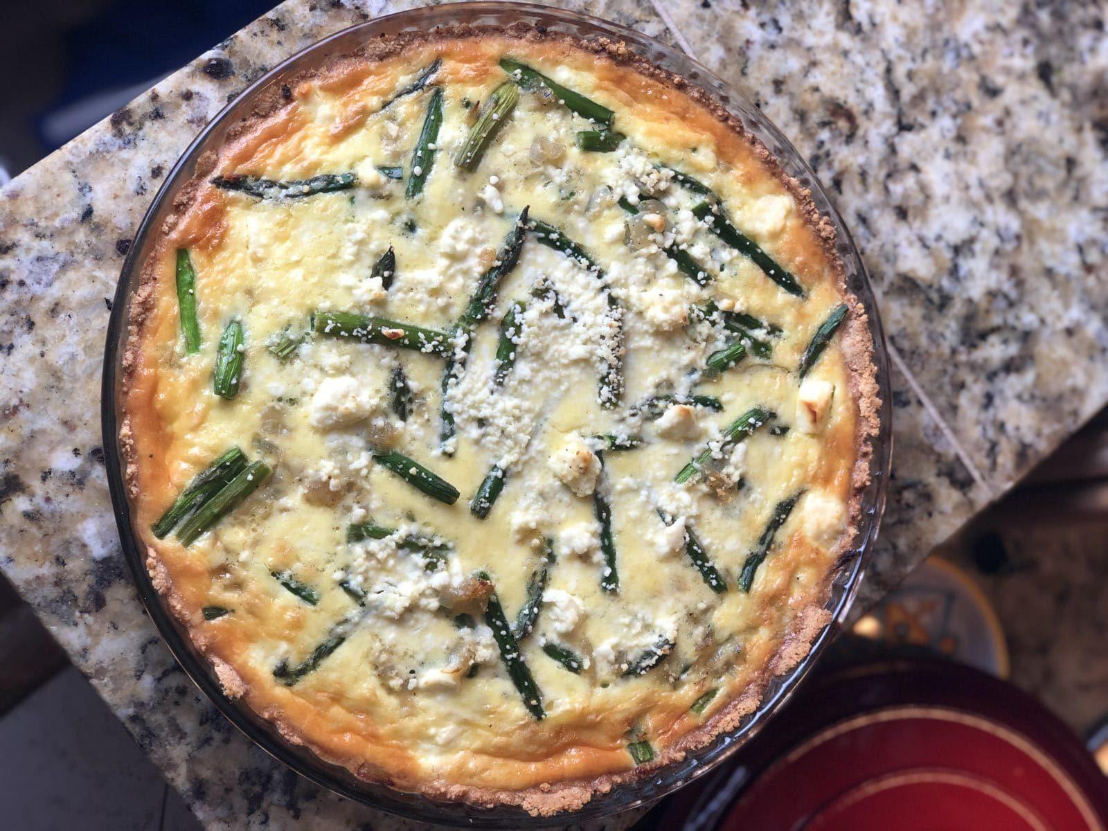 Asparagus Feta Quiche
