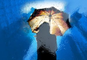 Rain Wet Umbrella Girl Water