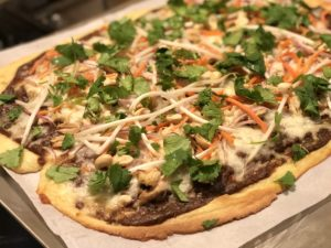 Thai Chicken Fathead Pizza
