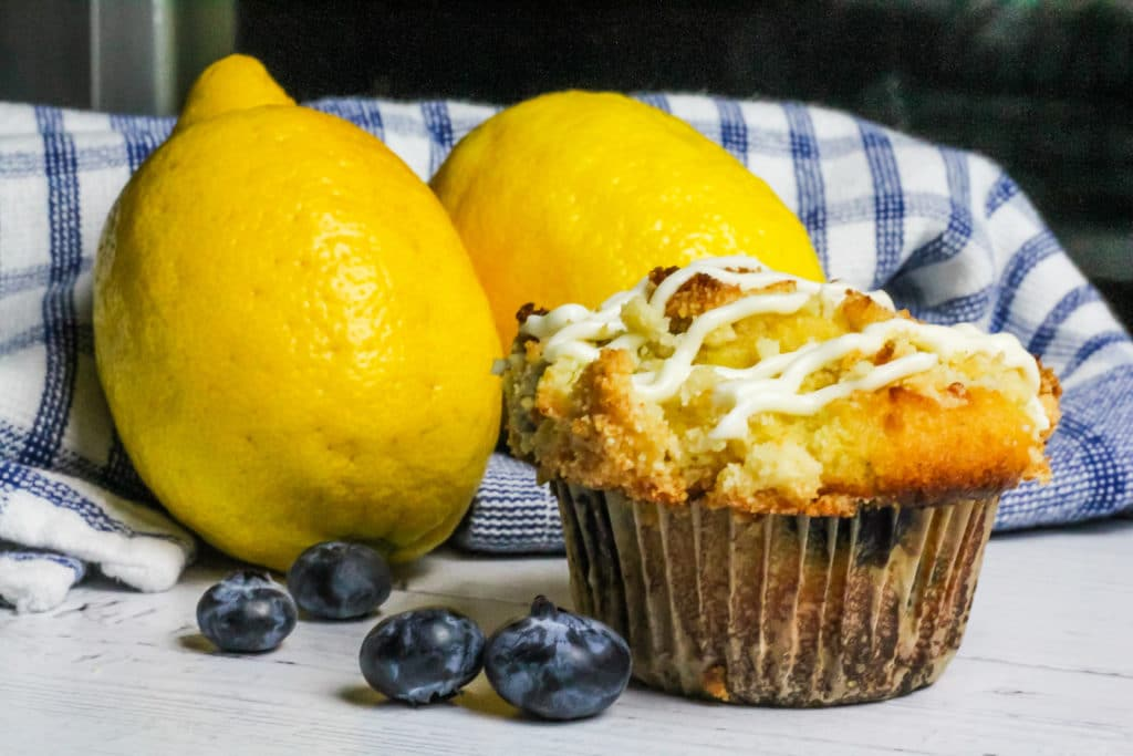 Low Carb Lemon Blueberry Muffins