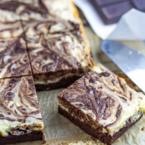 Keto Brownies swirled with Cheesecake