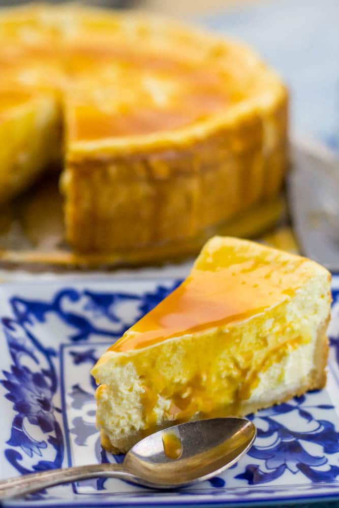 Classic Low Carb Cheesecake with Keto Salted Caramel