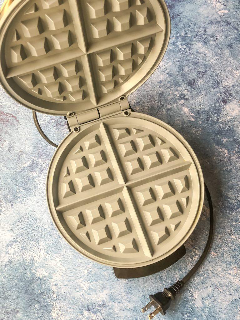 Silver Waffle Iron