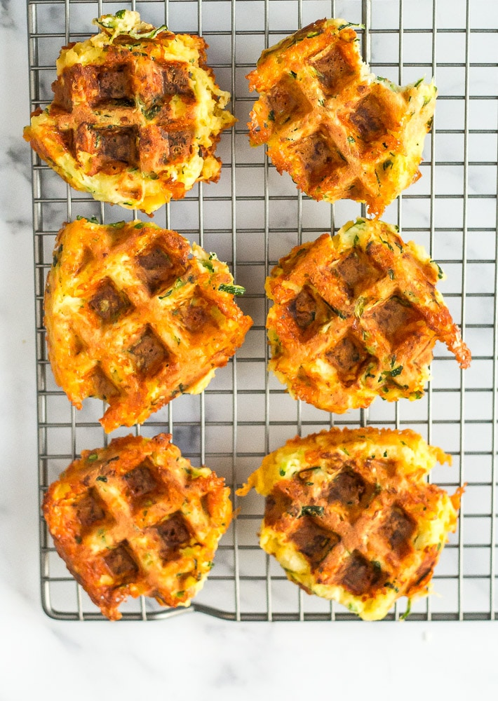 Low Carb Zucchini Waffles