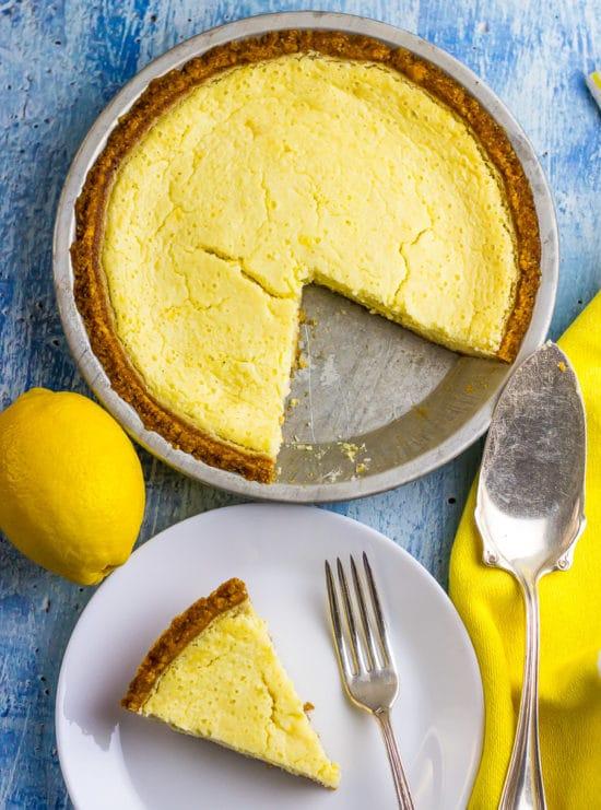 Low Carb Lemon IceBox Pie