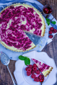 Raspberry Cheesecake Tart-15